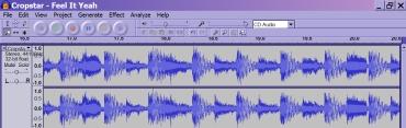 Audio Editing Software Screendump